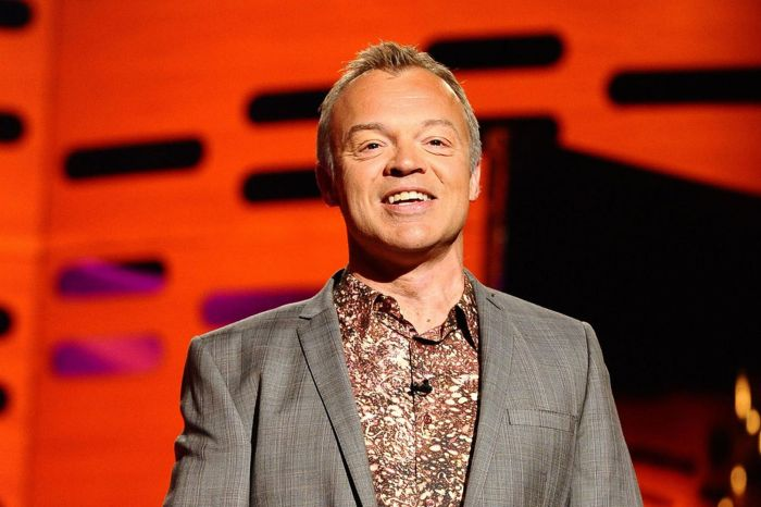 Graham Norton presents the Graham Norton show at the London Studios in London